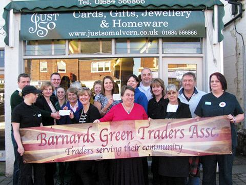 SERVING COMMUNITY: Barnards Green Traders helped to raise cash for two Malvern causes.