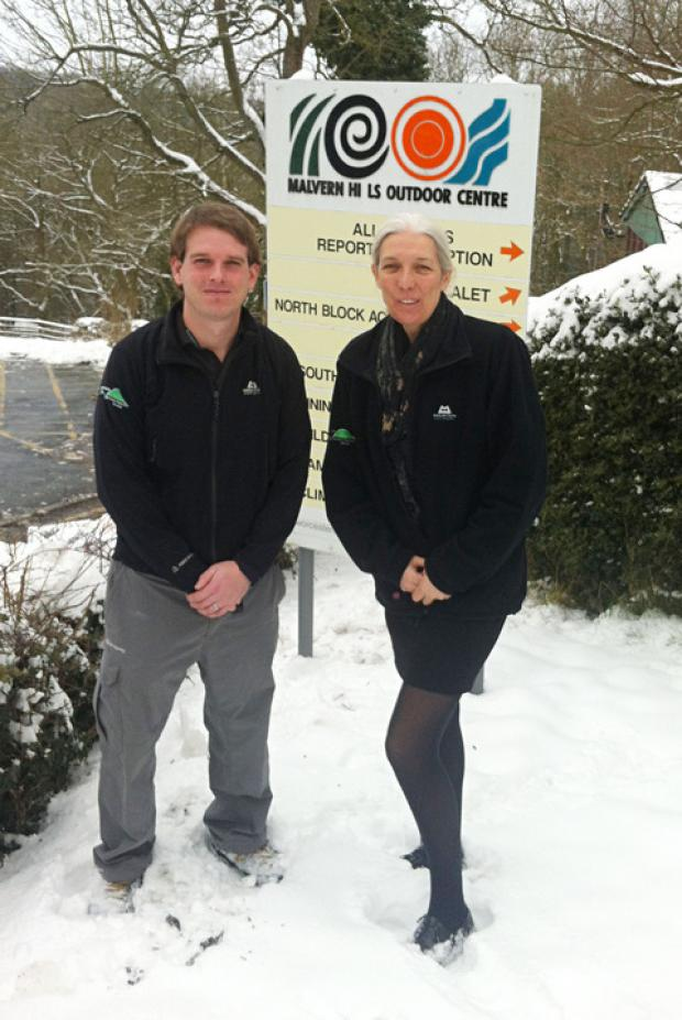 HOPE: Nick Hands, acting operations manager, Malvern Hills Outdoor Education Centre, and Councillor Beverley Nielsen.