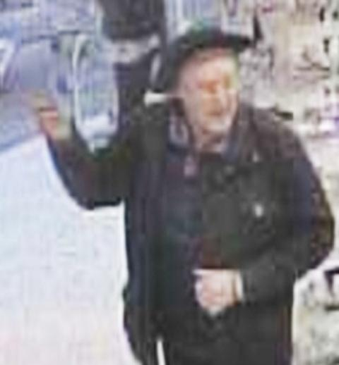 The CCTV image captured at Morrisons in Malvern