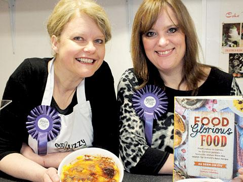 YUMMY: Liz Hughes, left, from Our Lizzy Cooking, and Tracy Brookes, of Cake Woman, will be on TV tonight.