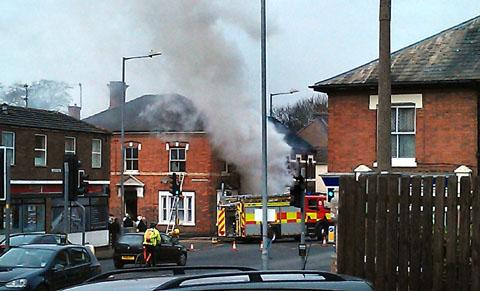 Sebright Avenue fire. Picture: Hereford and Worcester Fire and Rescue Service
