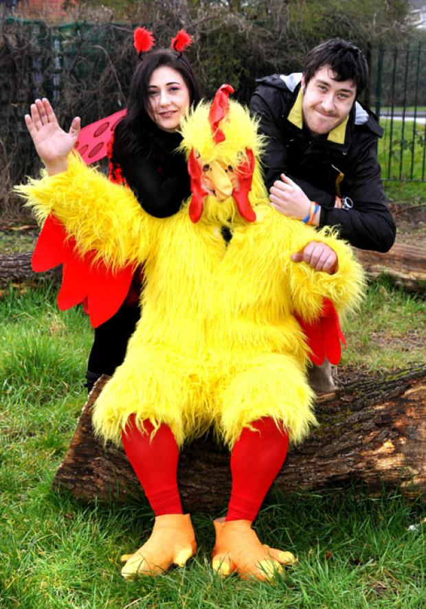Dance Craze: Cat Goodwin and Eden Tyrell with the funky chicken.