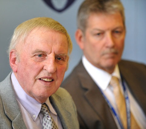 Police and crime commissioner Bill Longmore with deputy Barrie Sheldon