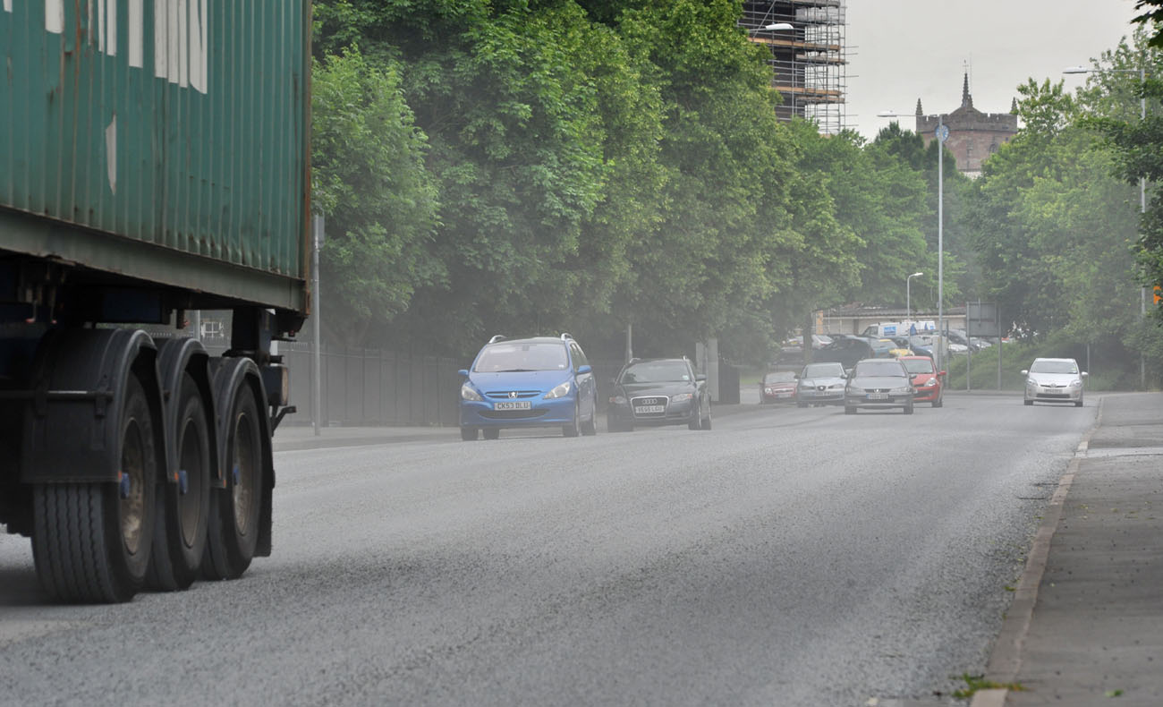 Pedestrians, buildings and cars have been battered by the dust in recent days