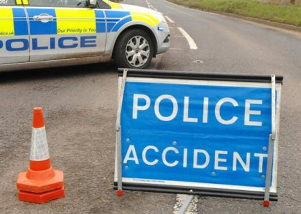 Road blocked after accident