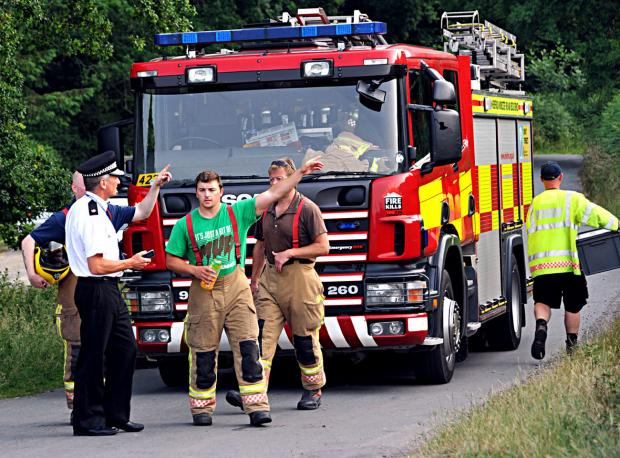 Gullet Quarry - emergency services at the scene today