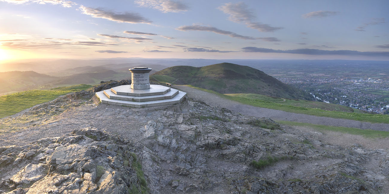 SCENIC: The toposcope on the Worcestershire Beacon marks the highest point on the Malvern Hills at 1,395 feet.