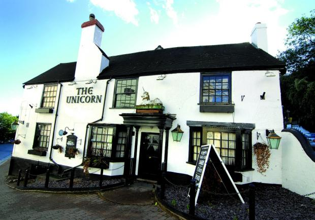A FAVOURITE OF C S LEWIS: The Unicorn, in Belle Vue Terrace, Malvern, is being reopened at 5pm today. 4213432101.