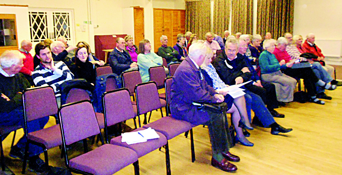 CONCERNED: About 30 residents attended a special planning meeting in Colwall.