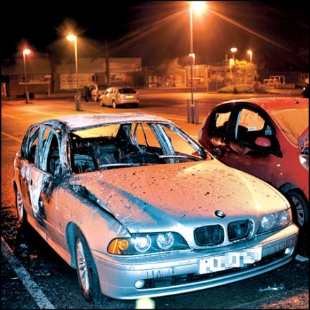 The cars were damaged on Monday, November 11, in Malvern