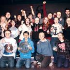 Malvern Gazette: IN THE MONEY: Excited youngsters of Vamos Young People's Theatre celebrate their massive Heritage Lottery handout.