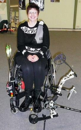 GOING FOR GOLD: Bromyard Bowmen's Vicky Jenkins has been picked for Great Britain's disability archery squad. Picture: CAROLYN WARREN