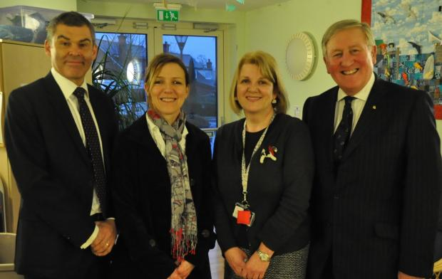 Chief Constable David Shaw and wife Juliet with Debra Clark and David Strudley from Acorns.