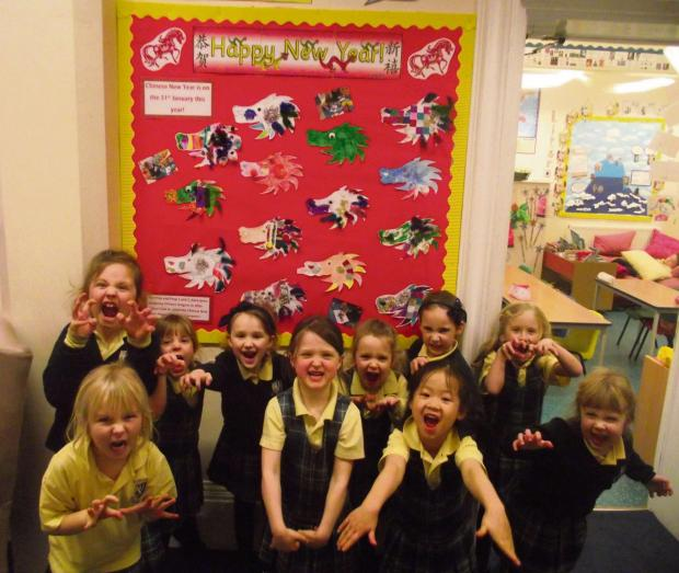 Pre-prep pupils get into the spirit of Chinese New Year at Malvern St James Girls' school