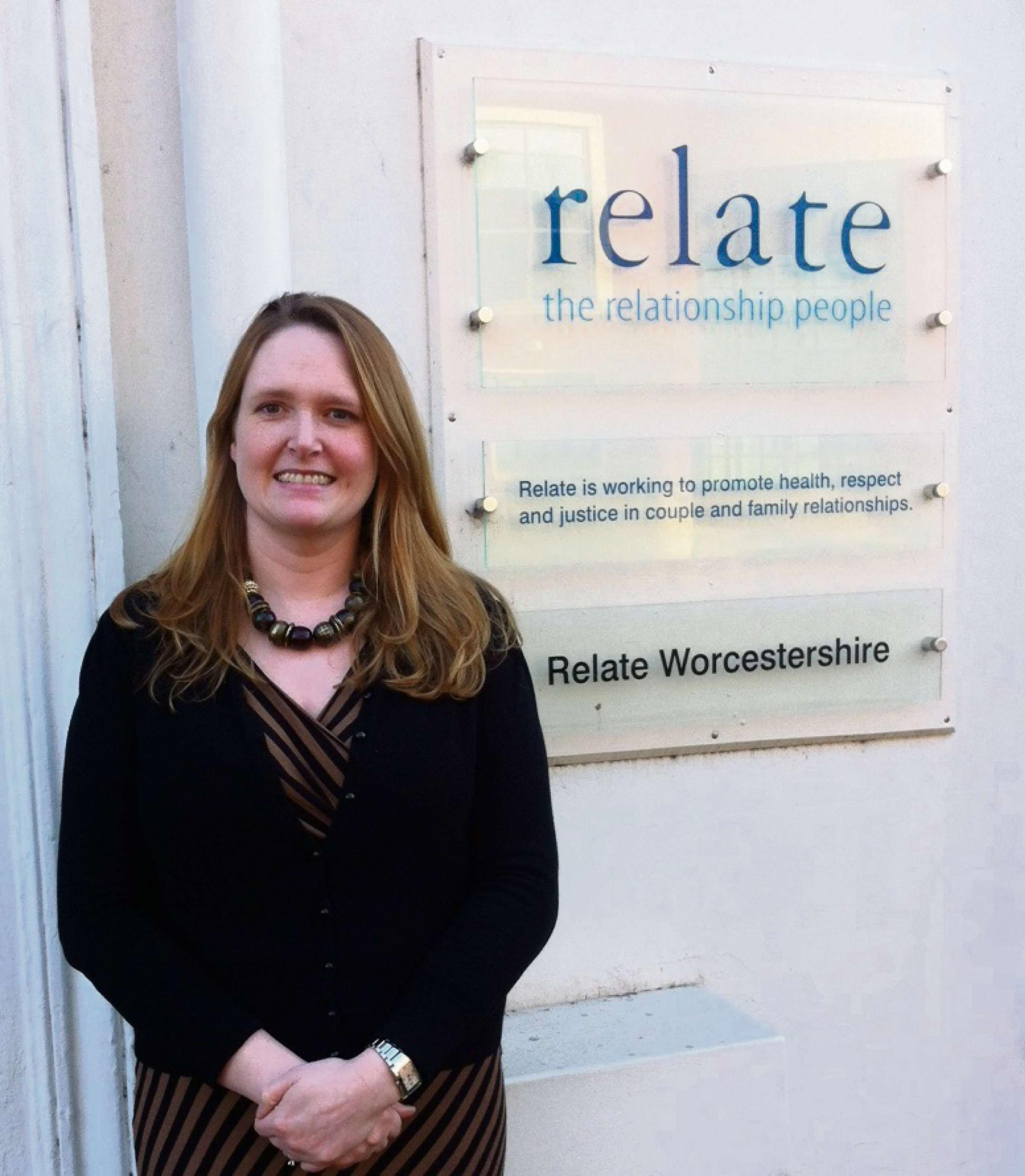 Sarah Moore, business development and training manager for Relate in Worcestershire, which works closely with Macmillan to support people suffering with cancer.