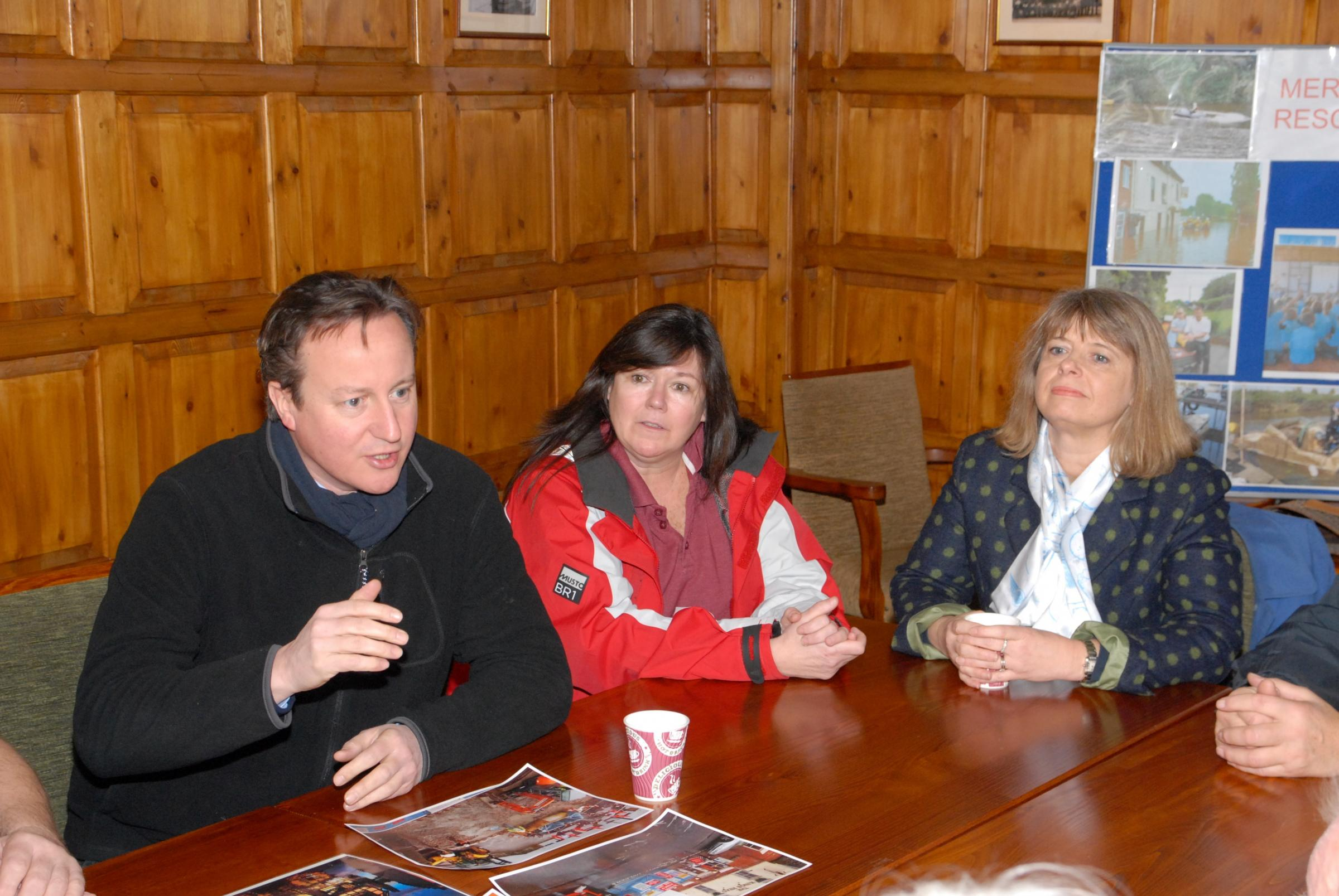 Prime Minister visits flood-hit Upton and promises £10 million recovery package for businesses