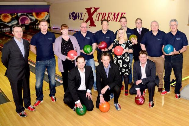 Malvern Gazette: Bowlers at the fundraising event at Bowl Xtreme in Droitwich Road