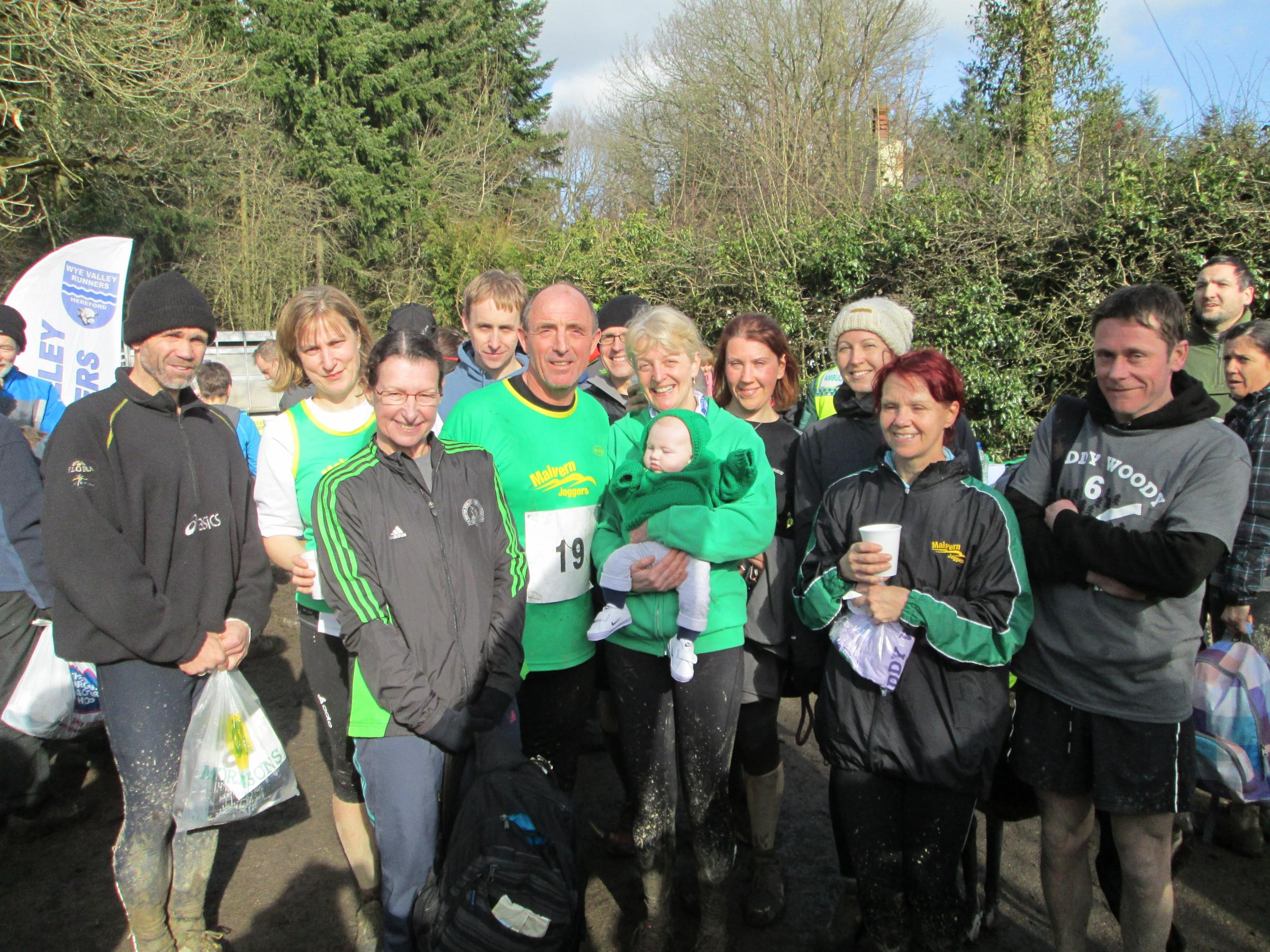 ON COURSE: Malvern Joggers runners who raced in the Muddy Woody 6. Picture: ANNIE ROBSON.