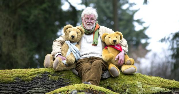 Malvern Gazette: BEAR HUG: Jeremy with two of his lovely bears