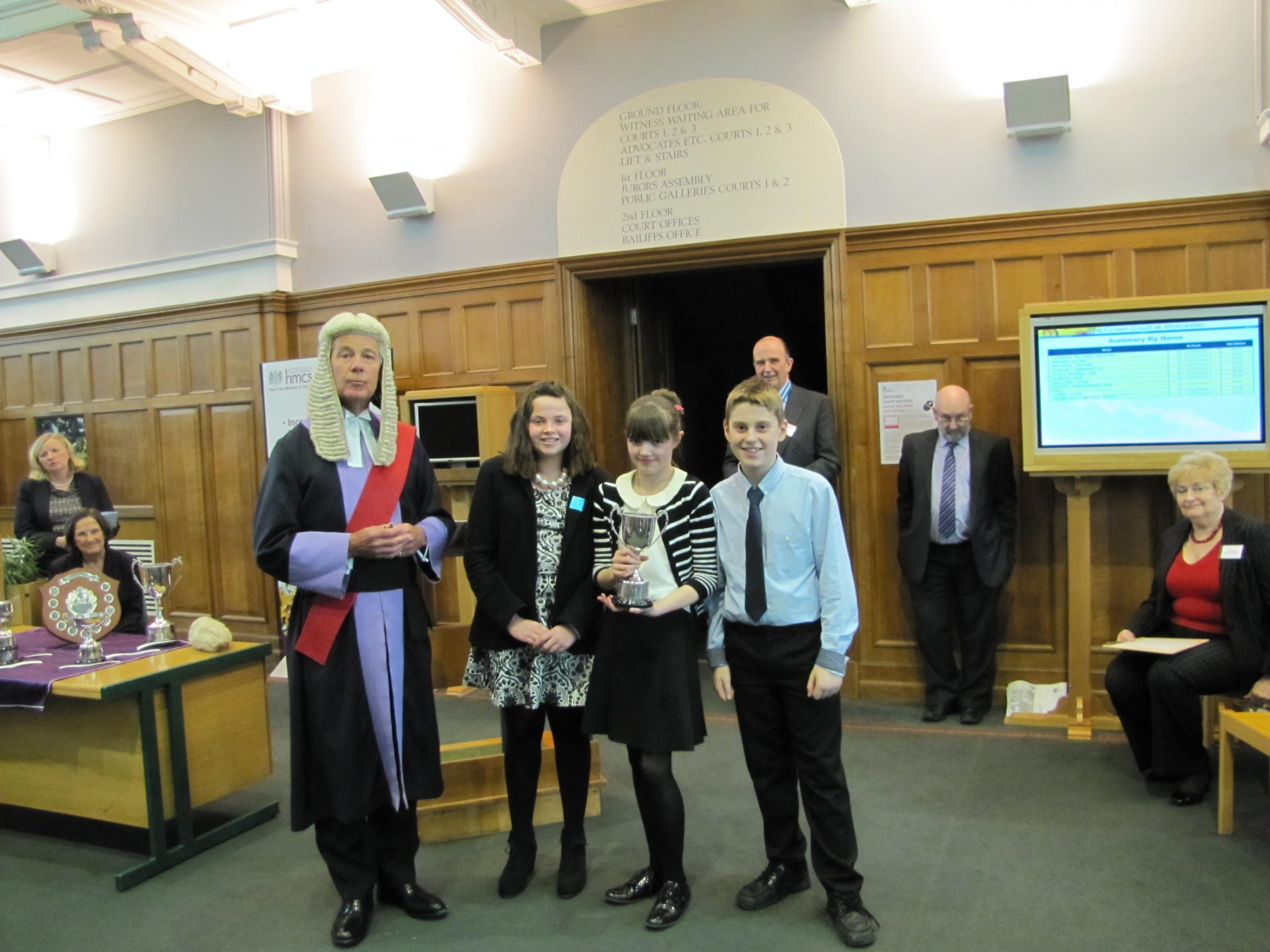 Schoolchildren take part in Mock Trial