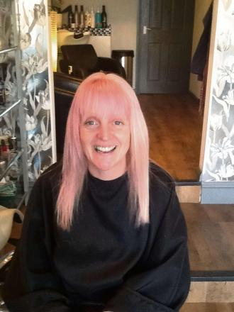 Think pink - Lynda Broadway has vowed to give up being blonde for St Richard's Hospice