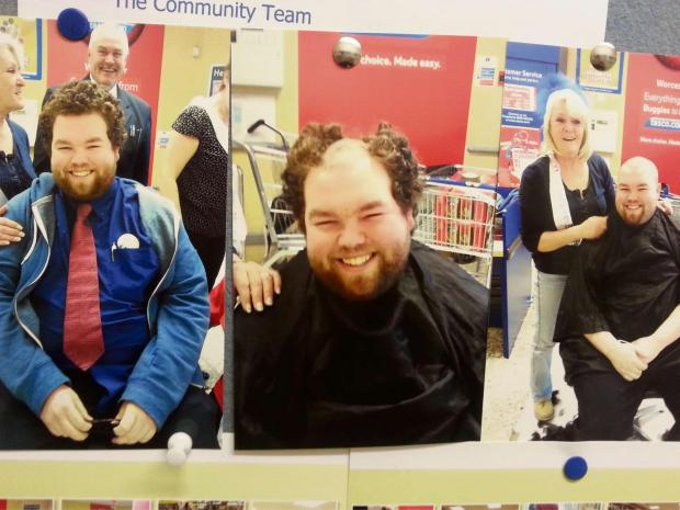 Before, during and after: Ryan Sowney of Tesco St Peters.
