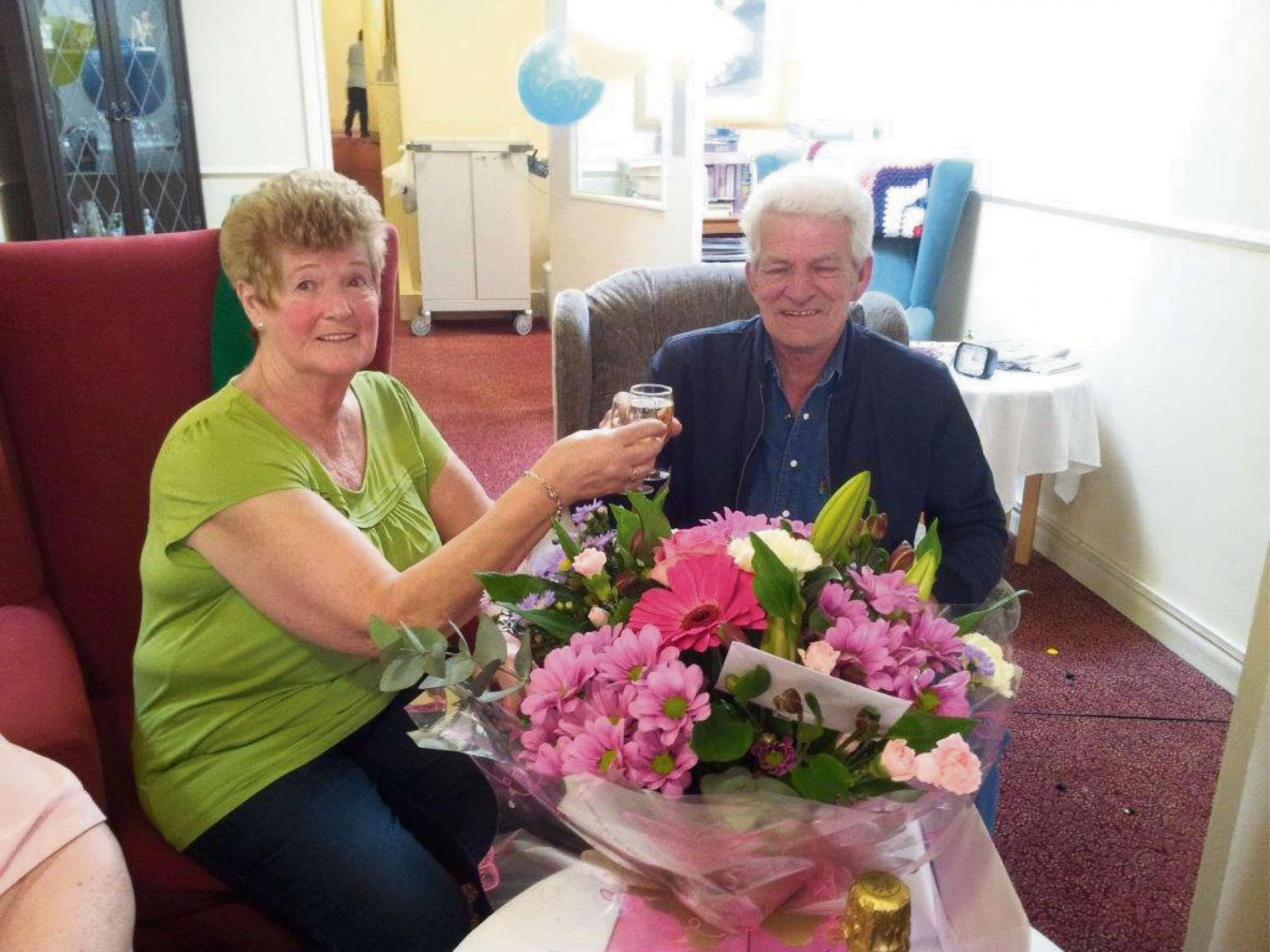 Care assistant Pam Davies and gardener Allan Bryant who are looking forward to enjoying a well-earned rest.