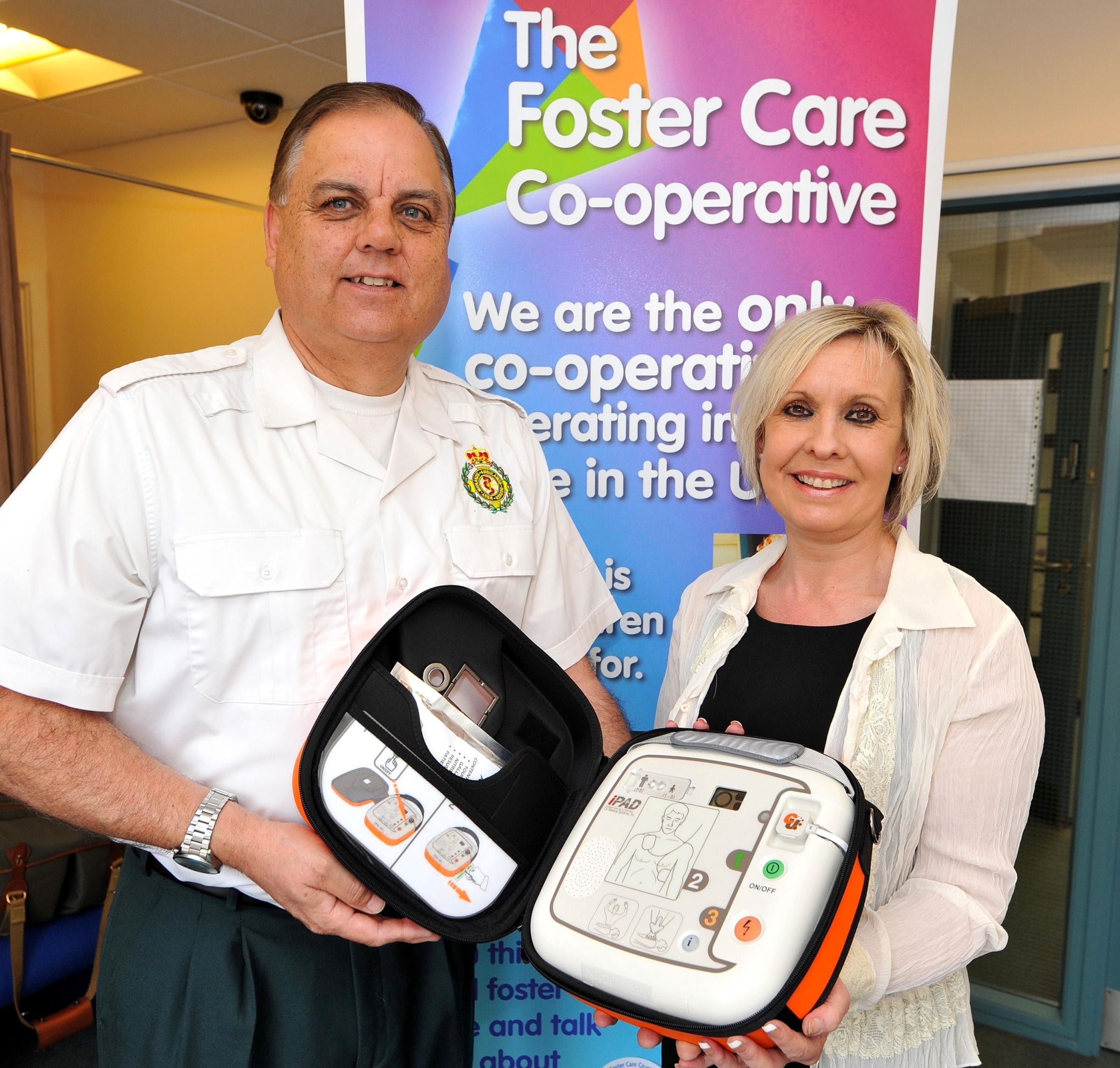 Lifesaving defibrillator will be available on Malvern Link industrial estate