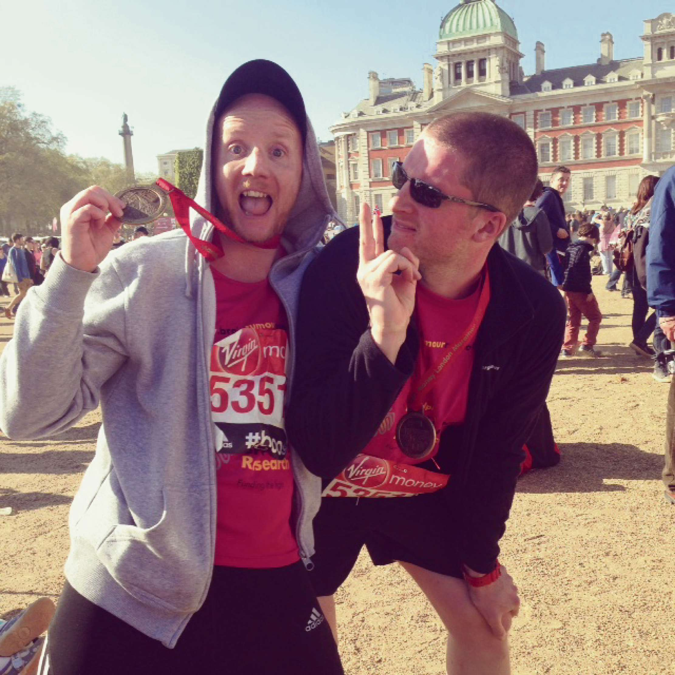 Ben goes the London Marathon distance for charity