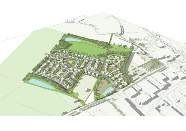 A masterplan of the proposed development in Pershore.