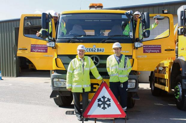 Cllr John Smith of Worcestershire County Council with members of the Ringway Team
