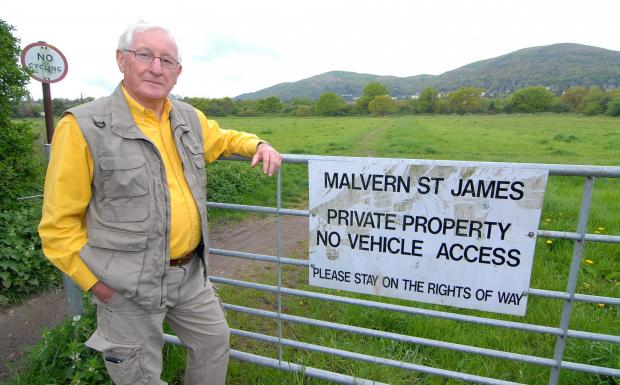 Malvern Gazette: Bob Tilley of Malvern Civic Society expects great opposition to plans.