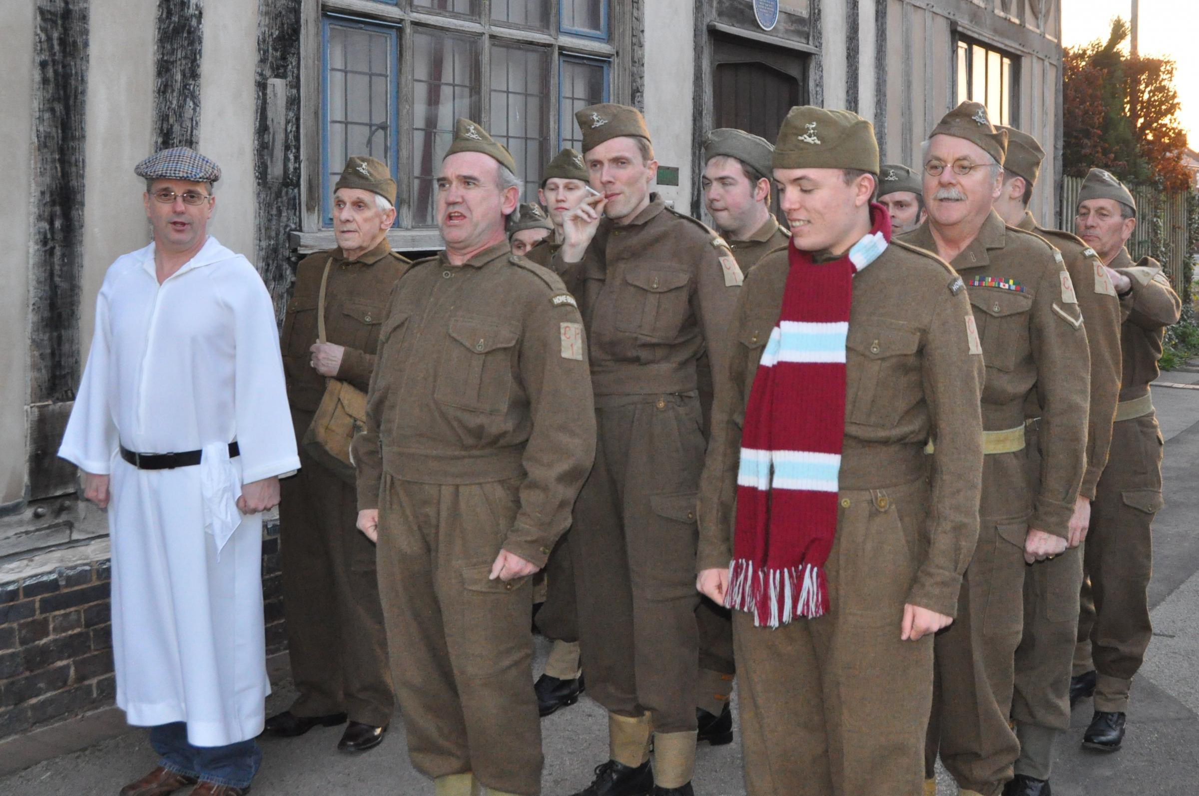 The cast of Dad's Army who will be appearing at the Norbury Theatre.