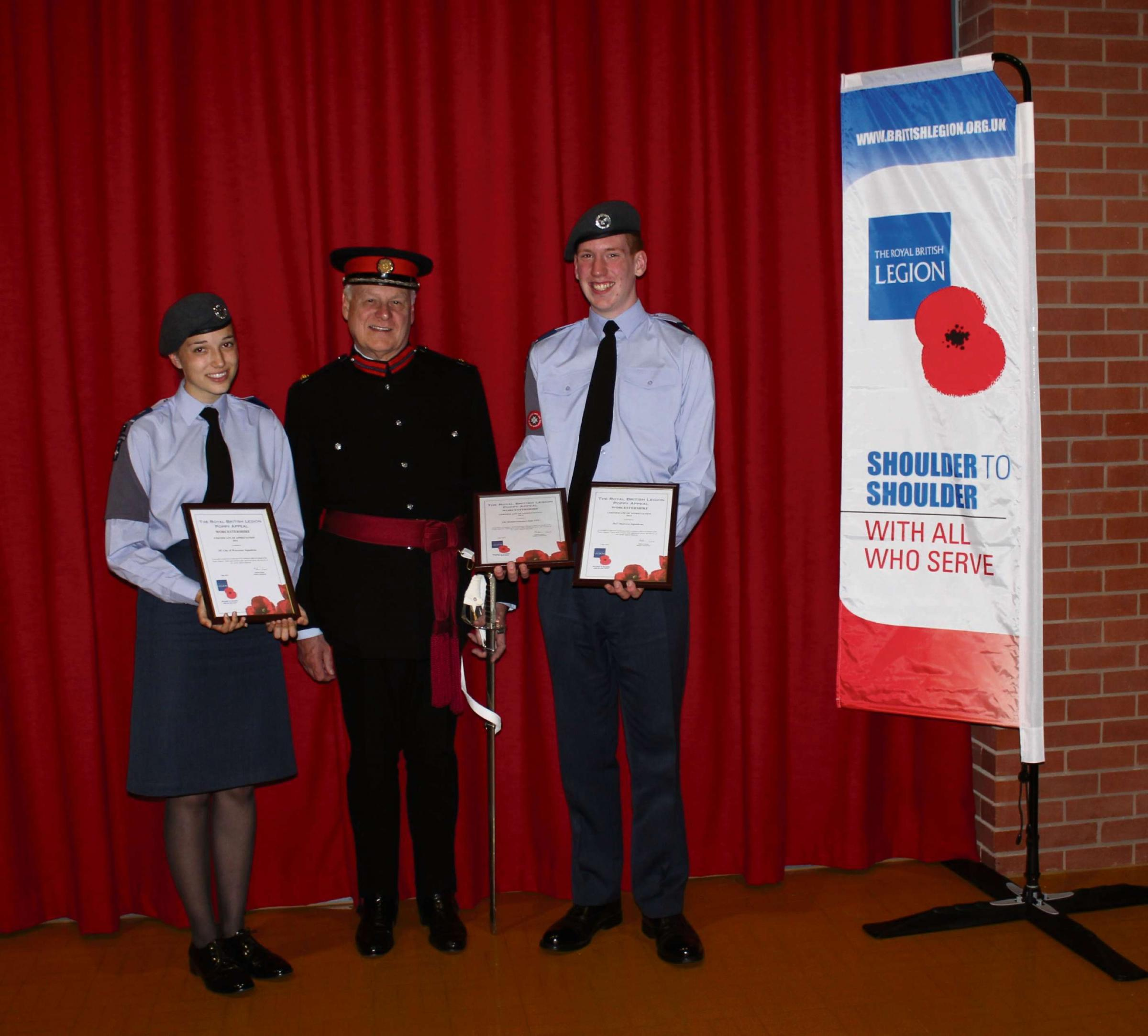 Cadets' Poppy Appeal efforts recognised