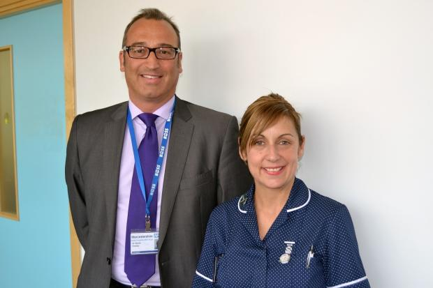 Malvern Gazette: Consultant upper gastrointestinal surgeon with Worcestershire Acute Hospitals NHS Trust Martin Wadley with specialist nurse Donna Traynor