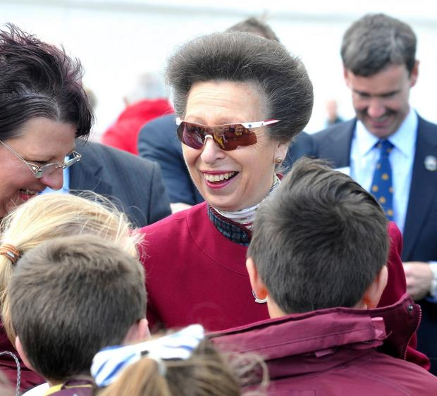 ROYAL VISITOR: Princess Anne at the RHS Malvern Spring Festival today