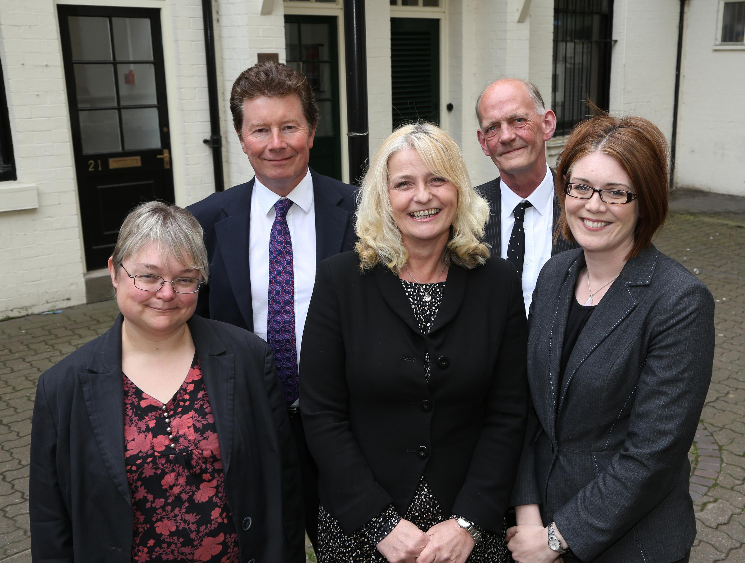 Left to right: Karen Billington, Cyril Arridge, Suzanne Oldnall, Richard Green and Emma Roberts.