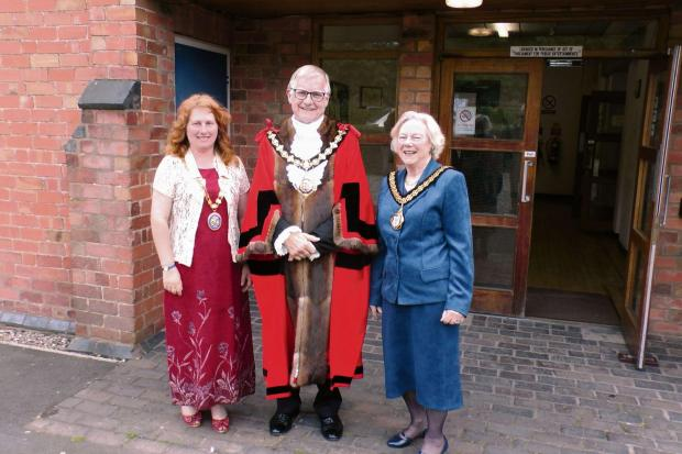 Malvern Gazette: Councillor Pam Davey, far left, the new chairman of Worcestershire County Council.