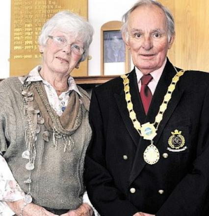 SECOND TERM: Mayor of Upton Peter Webb with wife Rosemary