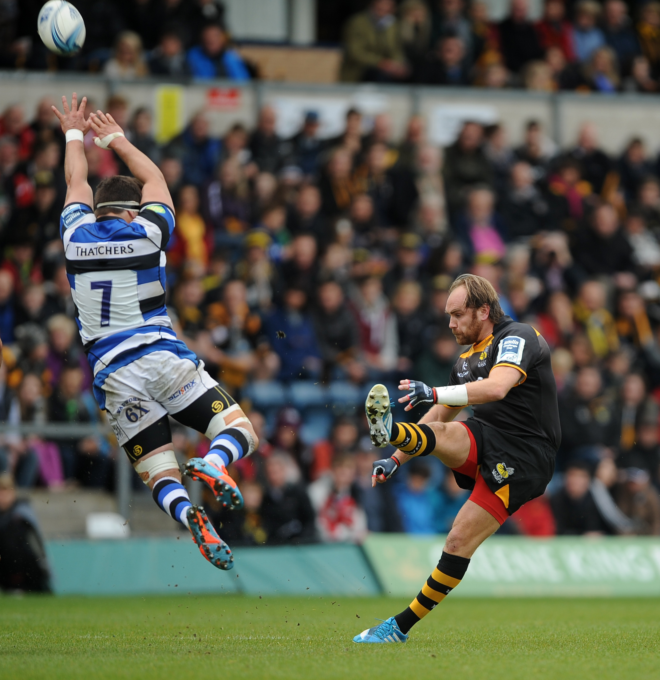 MARQUEE PLAYER: Former Worcester Warriors fly-half Andy Goode in action for new club Wasps.