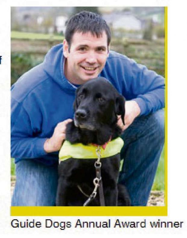 Malvern Gazette: Former serviceman Konrad Galen-Bisping with guide dog Radley will be among the special guests at Armed Forces Day.