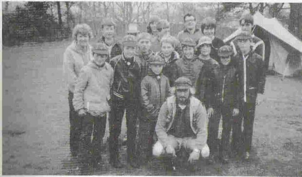 Malvern Gazette: SCOUTING FOR BOYS: 6th Kidderminster Scout Group on a Whitsun camp at Rhydd Covert in 1983.