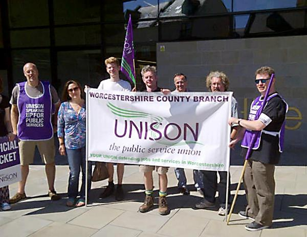 Mass walk-out as more than 2,500 workers strike across Worcestershire