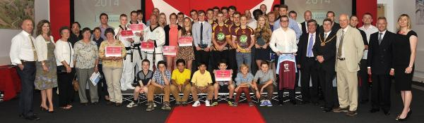 WELL DONE! The winners and runners-up at the Malvern Hills District Community Sports Awards