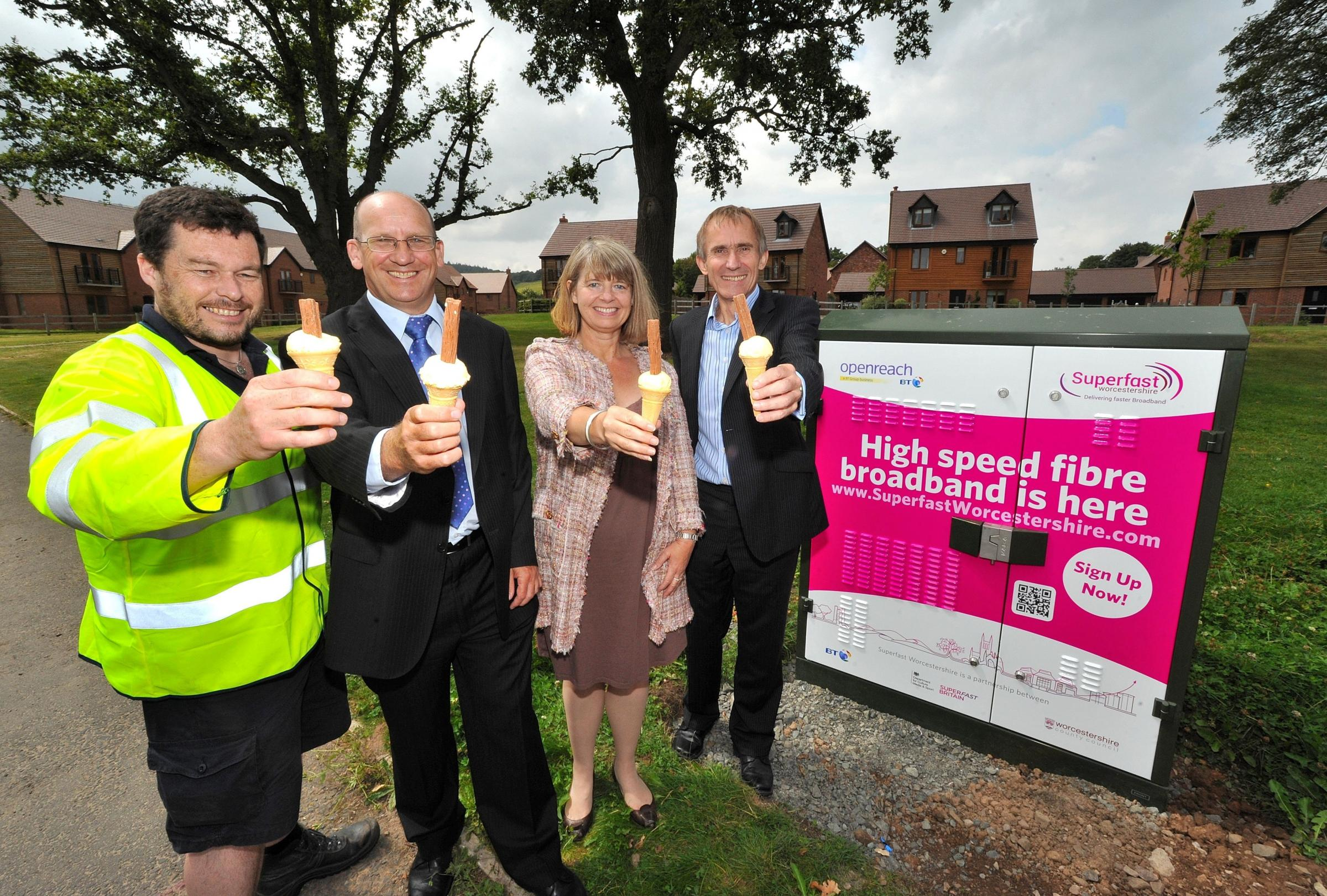 Broadband boost for hundreds at housing estate