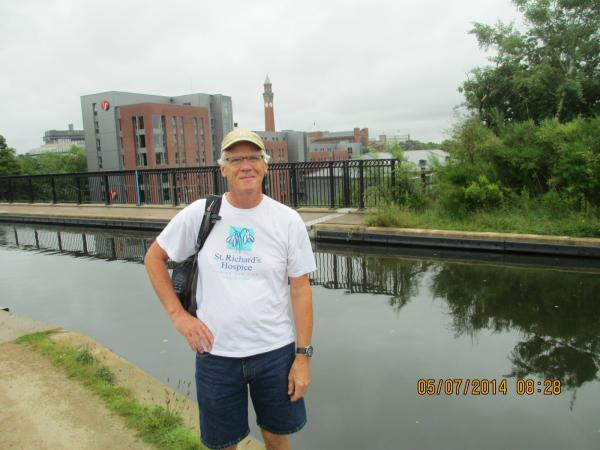 Bill Richardson who has walked the length of the Birmingham to Worcester canal