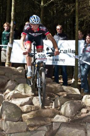 DAVID CREBER: Riding the rock garden. Pictures: PETER CREBER.