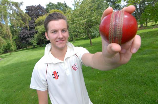 ON THE BALL: Ben Child of Canon Frome, our cricketer of the week with figures of 7-23 against Ombersley.