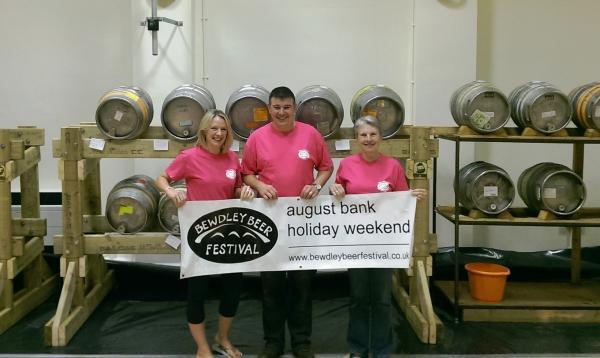 BEER FESTIVAL: From left, the event organisers Jennie Carr, Tim Wilkins and Anne Wilkins.