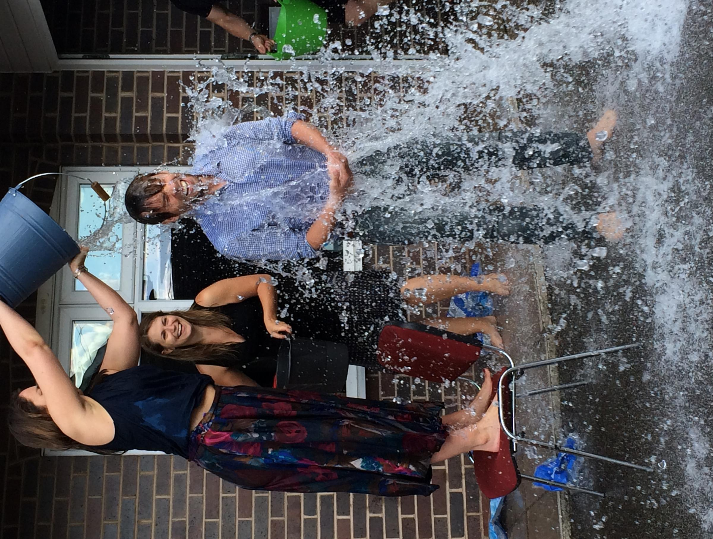 Malvern company's staff get a soaking - but it's all in a good cause